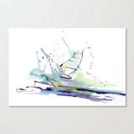 Windurfer - Surfart in watercolor - Surf Decor Canvas Print
