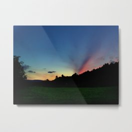 Colorful Sunset in Upstate New York Metal Print