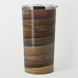 Wooden baseball bats Travel Mug
