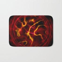 Red plasma flame Bath Mat