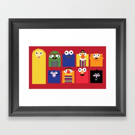 Sesame street Framed Art Print