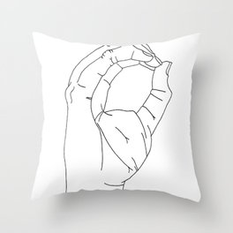 sign language O Throw Pillow