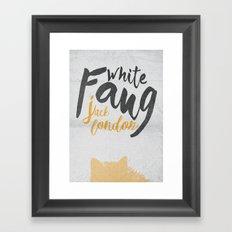 White Fang - Jack London Book Cover & Poster, old classi, penguin book Framed Art Print