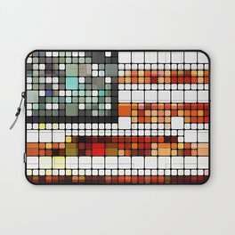 Retro Abstract American Flag Laptop Sleeve