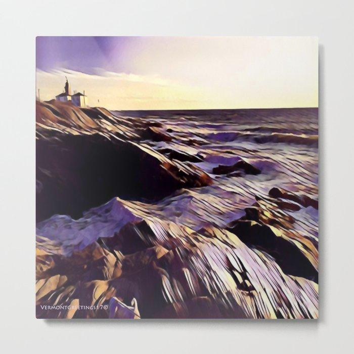Jamestown Lighthouse, Jamestown RI Metal Print