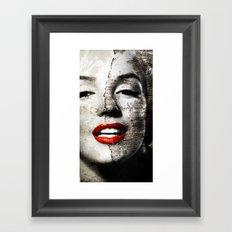 Marilyn Monroe - Wall painting Framed Art Print