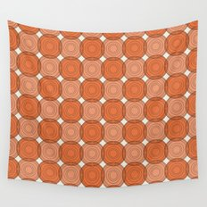 Red & Orange Circles Wall Tapestry