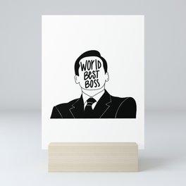 WORLD BEST BOSS Mini Art Print