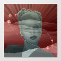 diamonds Canvas Prints featuring diamonds by Rosa Picnic