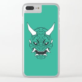 Geometric Demons Oni (鬼): Demon of Strife Clear iPhone Case