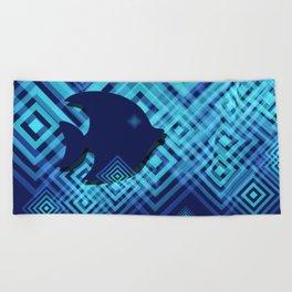 Blue Fish Angel Anglers Angles Beach Towel