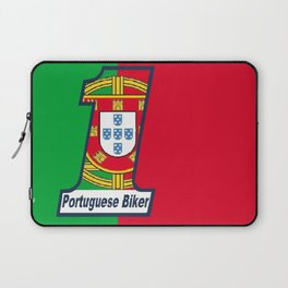 Portuguese Biker Flag Laptop Sleeve