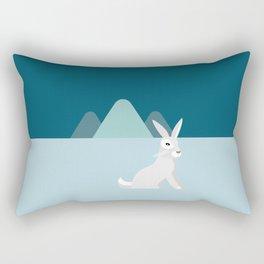 Arctic Hare Rectangular Pillow