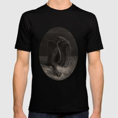 Cthulhu Rises Black Mens Fitted Tee 2X-LARGE