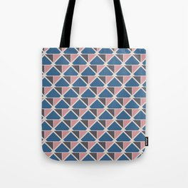 Retro Geometry surface pattern (Pink-blue small) Tote Bag