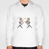 fight Hoodies featuring FIGHT! by Meuphrosyne