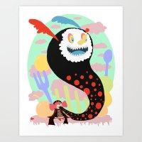 madoka magica Art Prints featuring Madoka Magica - Bebe by Misha