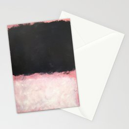 Mark Rothko - Untitled - Pink and Black Artwork Stationery Cards