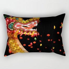 chinese dragon lantern Rectangular Pillow