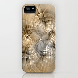 Abstract Earth Colors Fractal iPhone Case