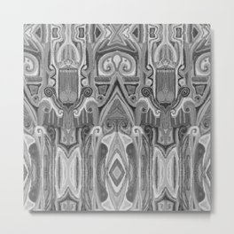 Totem and taboo- animist art-African style-archetype-ink painting-geometry Metal Print