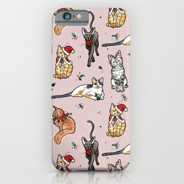 Meowy Christmas II iPhone Case