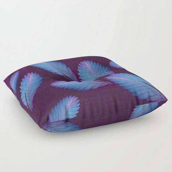 Tillandsia in dark purple Floor Pillow