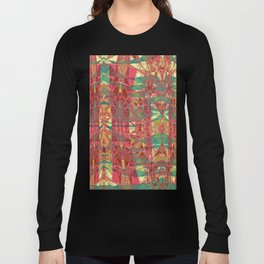 The Glass Mountains- Abstract Mixed Media Long Sleeve T-shirt