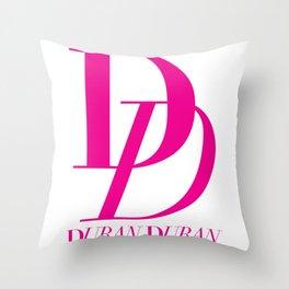 duran duran pink logo 2019 mamayo Throw Pillow