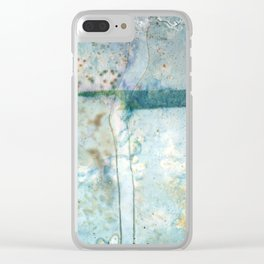 Water Damaged Clear iPhone Case