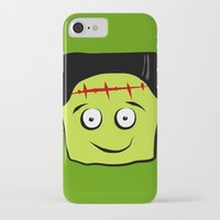 frankenstein iPhone & iPod Cases featuring Frankenstein by Jessica Slater Design & Illustration