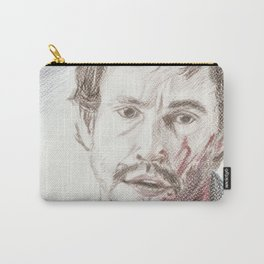 Bloody Will Graham, original colored pencil drawing Carry-All Pouch