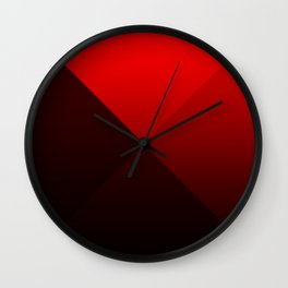 red triangle luminosity with cross fading Wall Clock