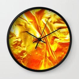 Golden Fabric Wall Clock