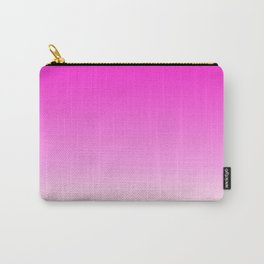 Minimal Pink White Color Gradient Carry-All Pouch