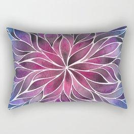 Floral Vines - Jewel Gradient Rectangular Pillow