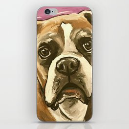 Boxer Art, Cute Boxer Art iPhone Skin