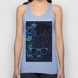 Afro Diva : Sophisticated Lady Teal Unisex Tank Top