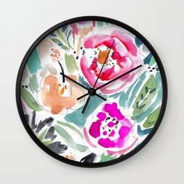 Walk in the Park Floral Wall Clock