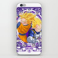 dragonball z iPhone & iPod Skins featuring DragonBall Z - Saiyan House by Art of Mike