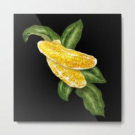 Orange Fruit in Vector Graphic Metal Print