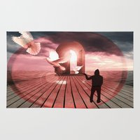 surrealism Area & Throw Rugs featuring surrealism  by mark ashkenazi