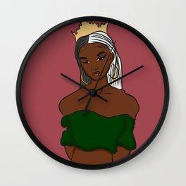 Crowned Queen Wall Clock
