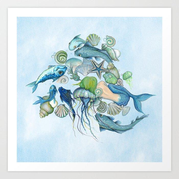 Atlantis Underwater World Art Print