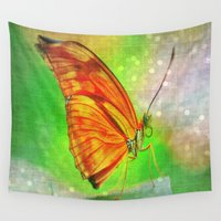 butterfly Wall Tapestries featuring Butterfly by haroulita