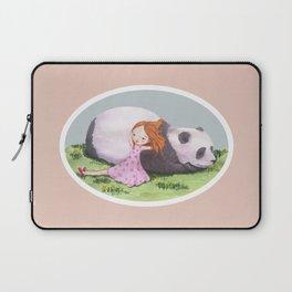 Giant Panda snuggles in the sunshine Laptop Sleeve