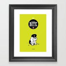 BITE:I love ham Framed Art Print