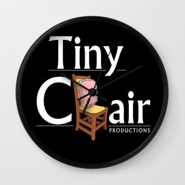 Tiny Chair Productions Offical Logo Wall Clock