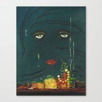 the great gatsby Canvas Prints featuring Gatsby by Julia Lopez