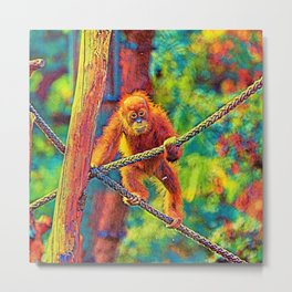 AnimalColor_OrangUtan_014_by_JAMColors Metal Print